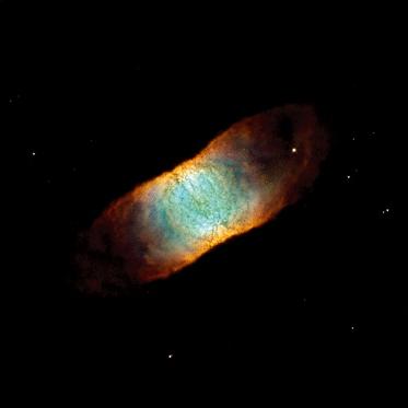 视网膜星云。这是一个由多块尘埃云交织而成的行星状星云,每一个星云的宽度都比整个太阳系还要大。距离:1900光年。尺度:0.9光年。版权:NASA, ESA和Hubble Heritage Team (STScI/AURA/NASA)