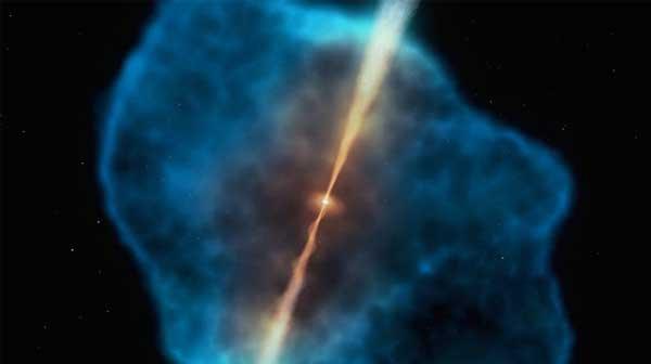 超大质量黑洞吞噬了大量的氢