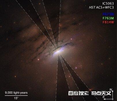 黑洞尘土环的物质分布情况可能在星系中心投影出来