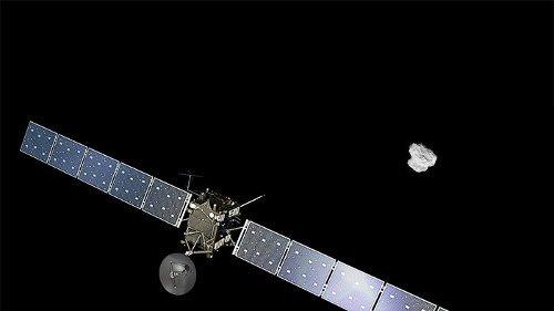 罗塞塔号的彗星一年