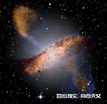 两个星系合并将磁场扭曲