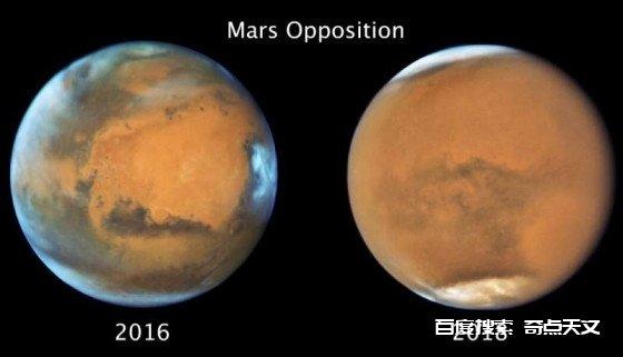火星全球沙尘暴使到火星南半球的冬季提前结束
