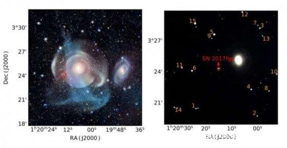 中国天文学家发现一颗奇怪的超新星出现在它不该出现的地方