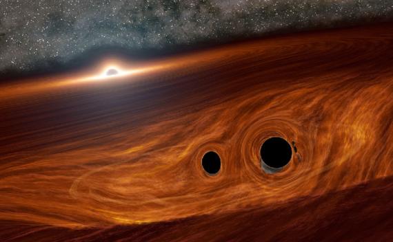 黑洞合并可能引起的耀斑