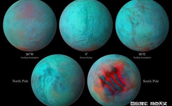 令人惊叹的图片表明,在土星的一颗卫星上出现了新冰