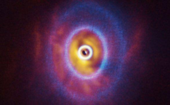 首度观测到三重星系统的原行星盘