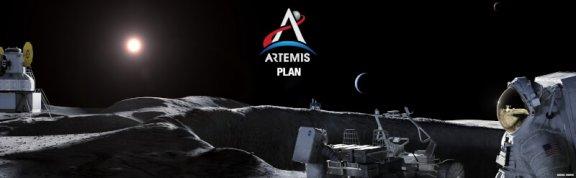 美国航天局公布了阿耳特弥斯计划,计划在2024年让第一个女人,下一个男人登陆月球