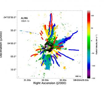 ALMA观测到剧烈的宇宙爆炸:是否为大质量恒星合并?