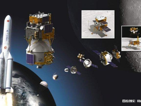 中国嫦娥5号24日顺利升空 将执行月球采样任务
