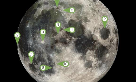 看月球?月面10大推荐特征观赏攻略