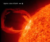 """威力巨大的太阳""""耳环"""":太阳暗条"""
