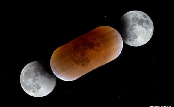 地球上血月是怎么形成的?为什么是红铜色?