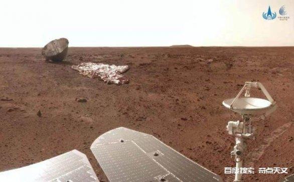火星有生命?祝融号传回真实画面,岩石上有像「霉菌」的东西?